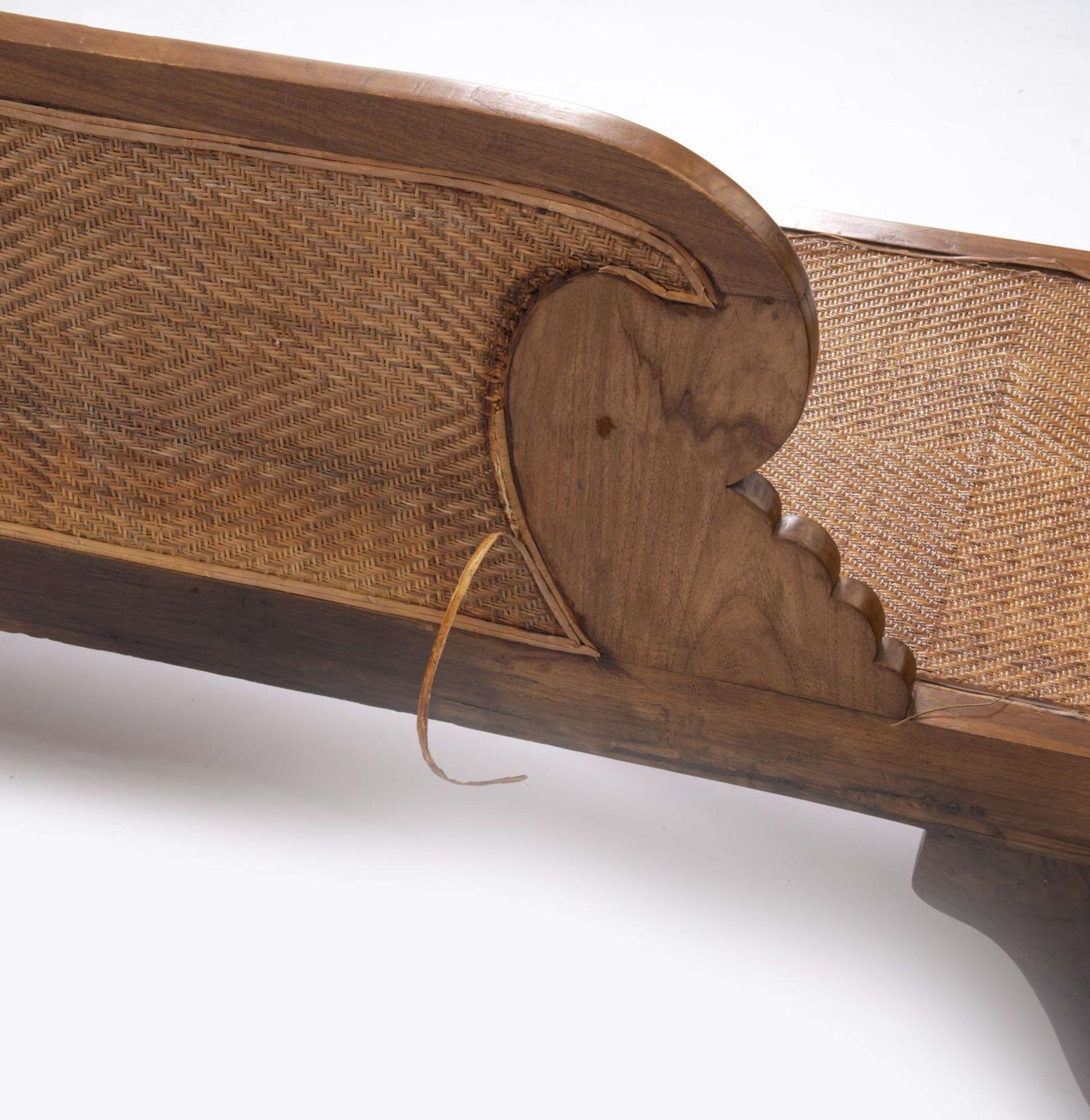 Deux fauteuils et une banquette balinais en Suar teck - Bild 7 aus 15