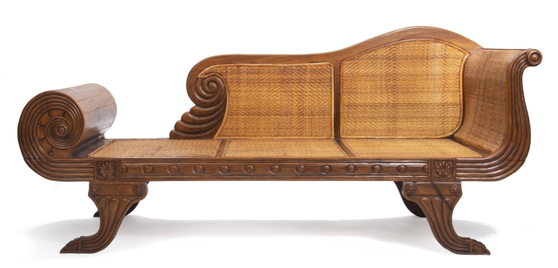 Deux fauteuils et une banquette balinais en Suar teck - Bild 3 aus 15