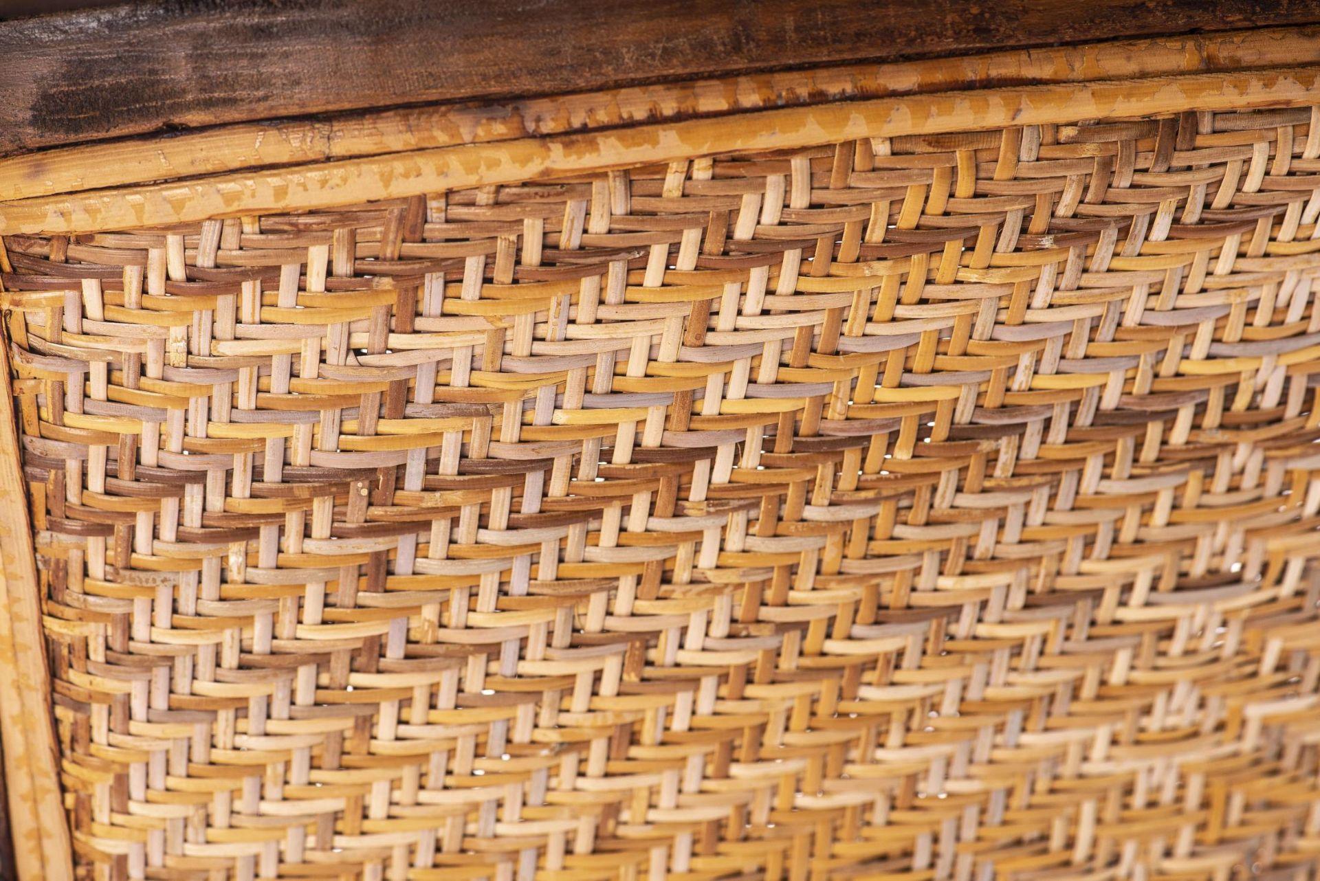 Deux fauteuils et une banquette balinais en Suar teck - Bild 12 aus 15