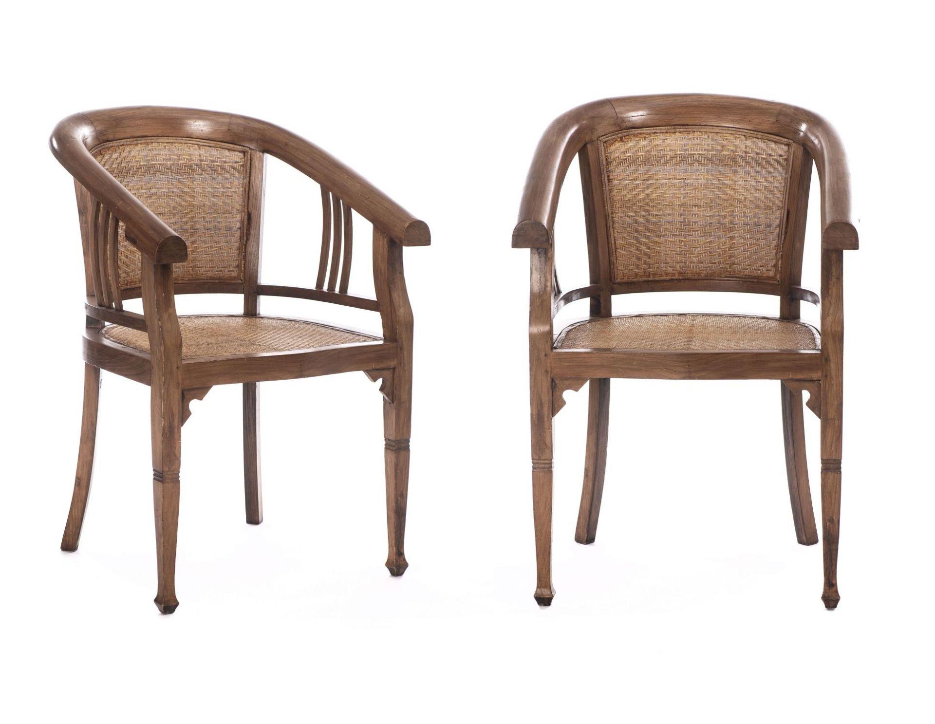 Deux fauteuils et une banquette balinais en Suar teck - Bild 8 aus 15