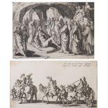 """Jacques Callot (1592-1635) d'après, """"Les Bohémiens"""" & """"La résurrection de Lazare"""""""