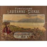 Affiche du Funiculaire Lausanne-Signal par C Pellegrini