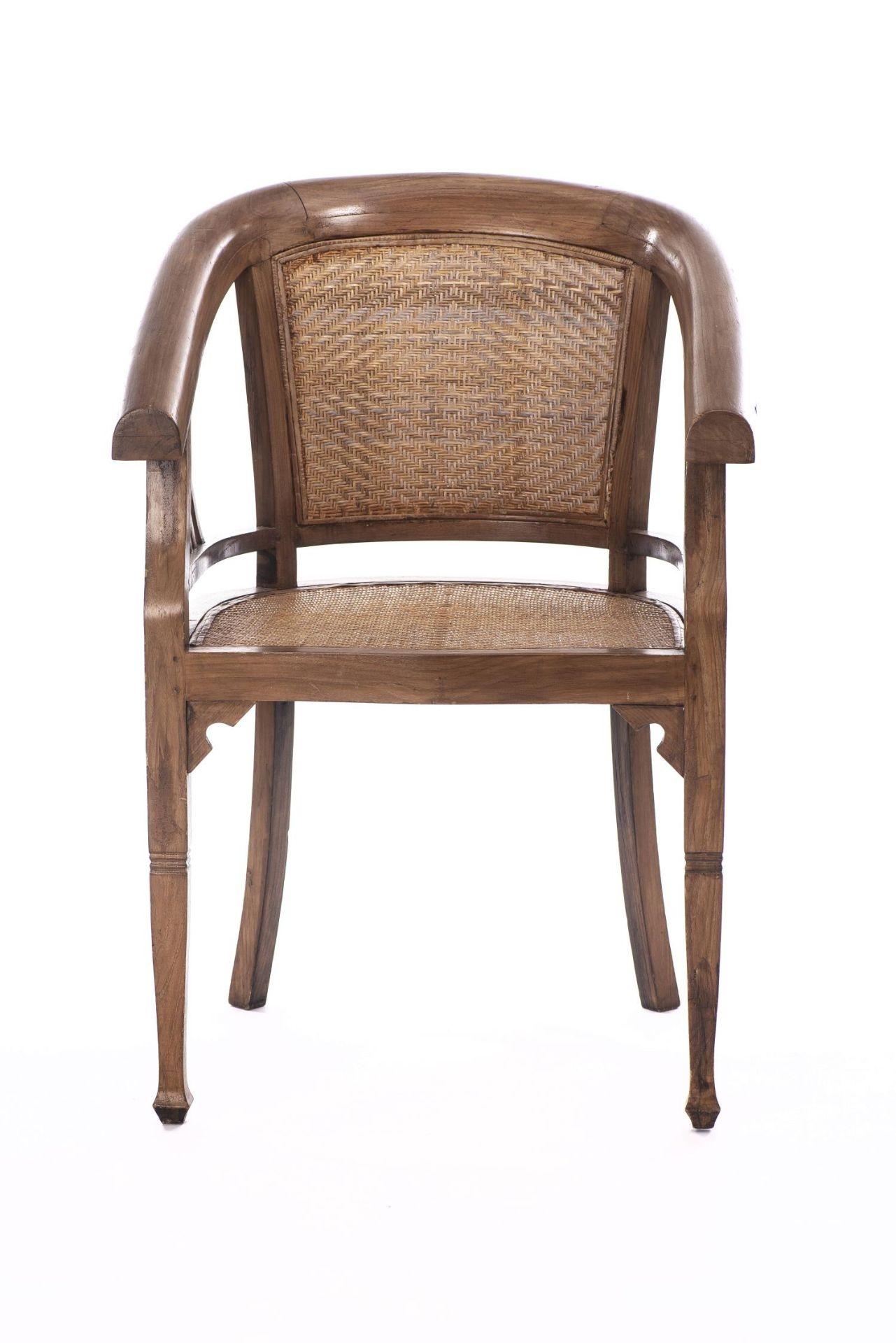 Deux fauteuils et une banquette balinais en Suar teck - Bild 9 aus 15
