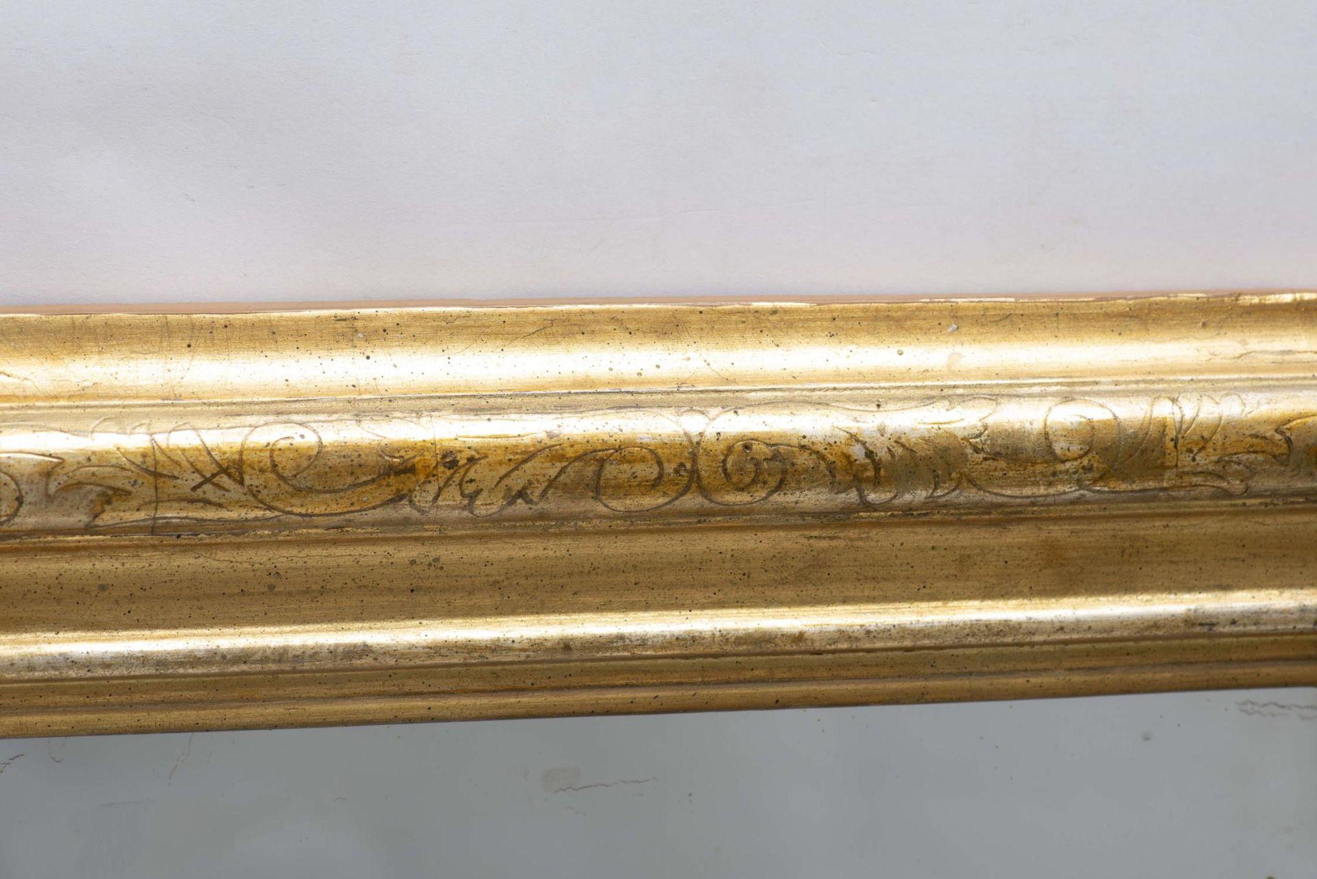 Miroir vertical à cadre en stuc doré d'époque Louis-Philippe - Bild 3 aus 4