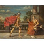 """Ecole italienne (fin XVIIIe-début XIXe), """"L'assassinat de Pythagore par un [...]"""