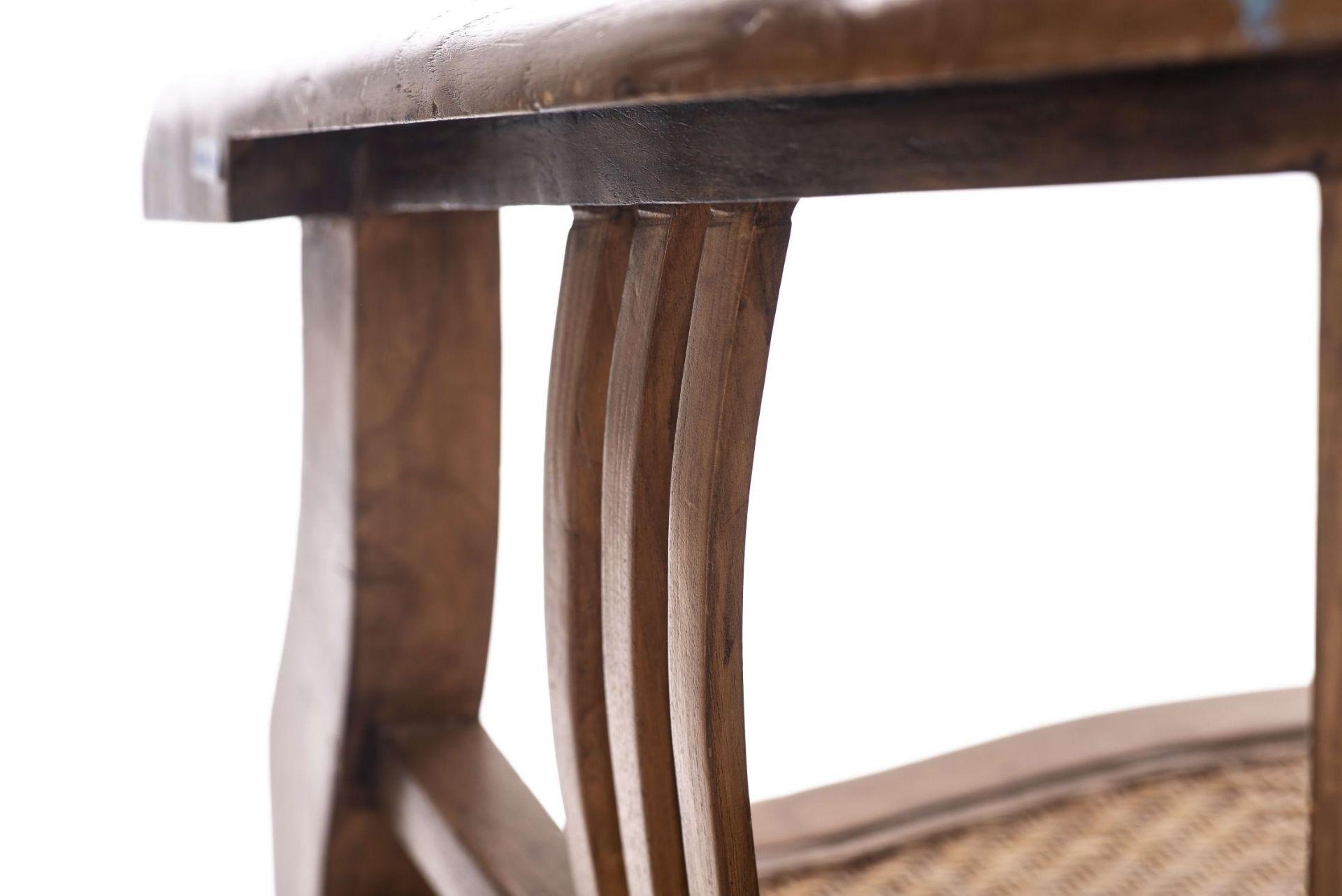 Deux fauteuils et une banquette balinais en Suar teck - Bild 13 aus 15