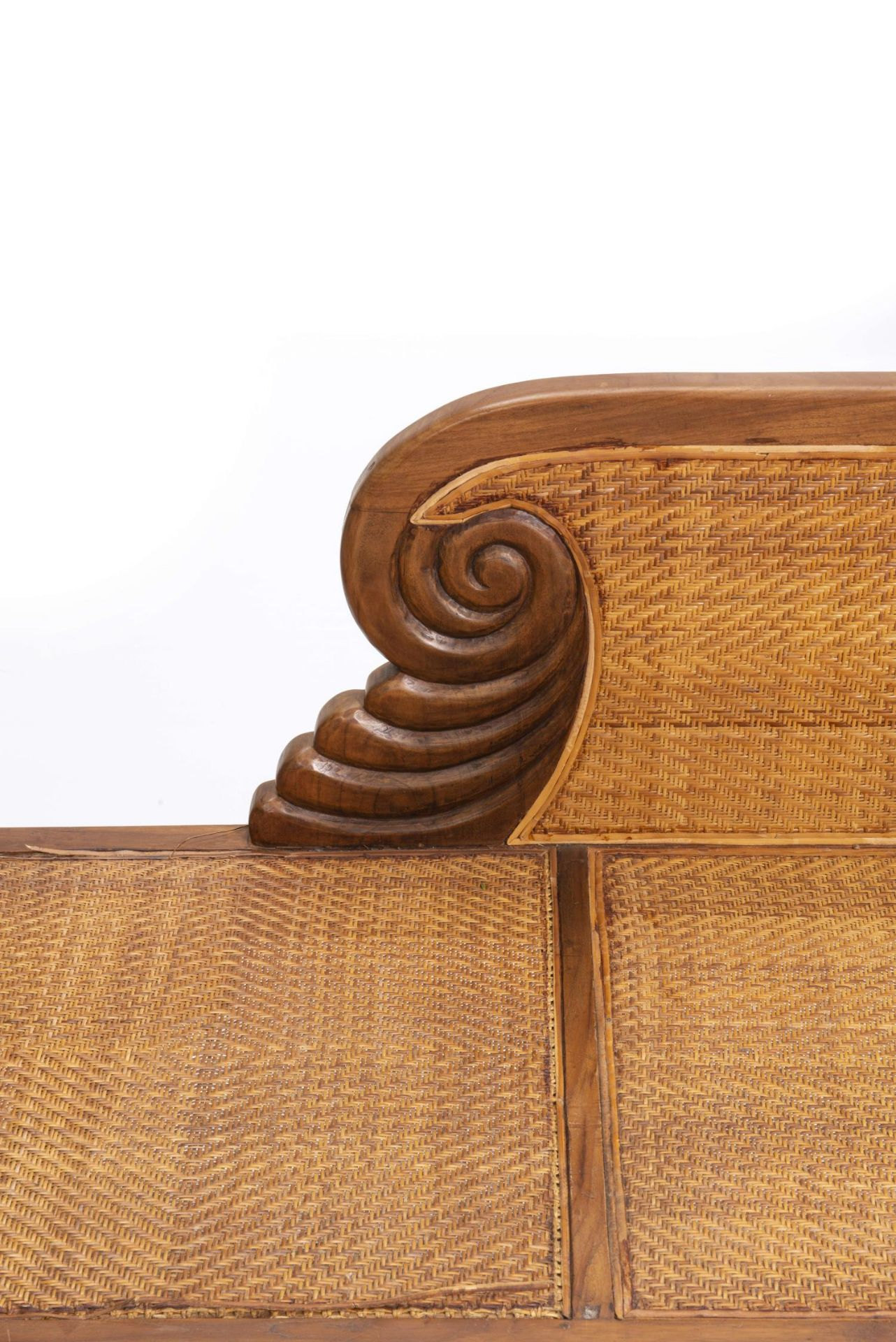 Deux fauteuils et une banquette balinais en Suar teck - Bild 4 aus 15