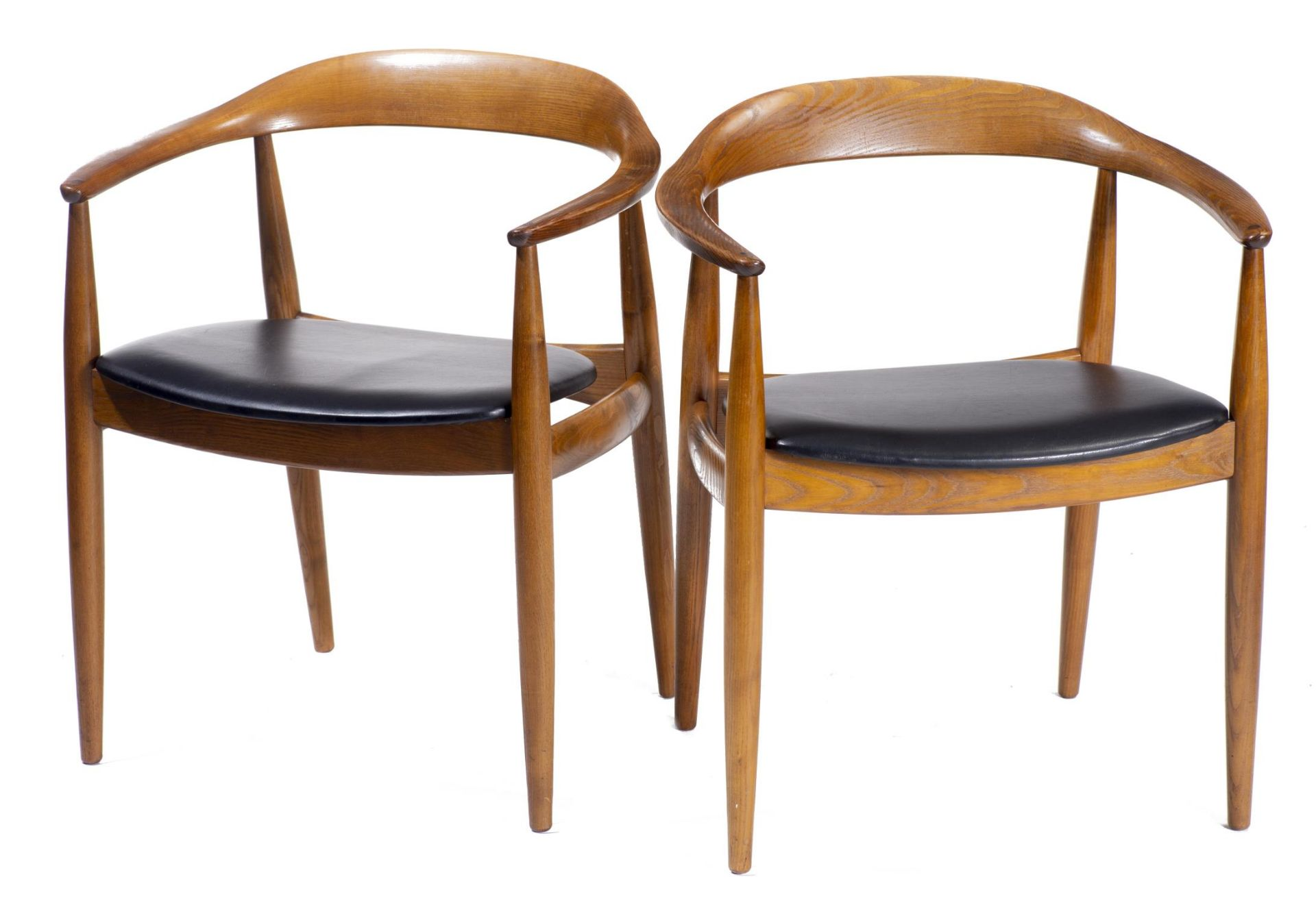 Quatre chaises en teck et deux fauteuils en chêne de style scandinave - Bild 2 aus 9