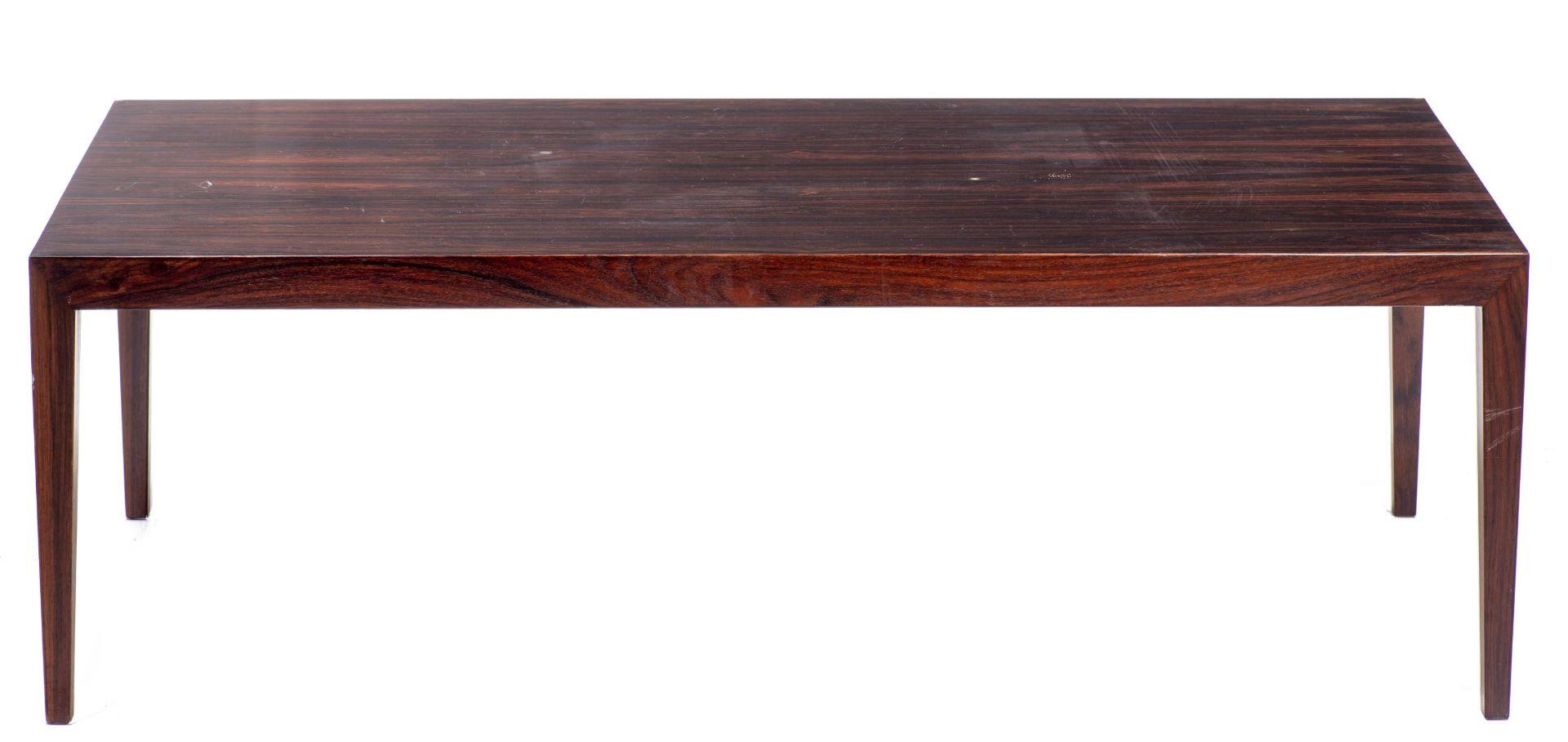 Table basse rectangulaire en teck par Fa. Ole Olsson & Son à Glostrup