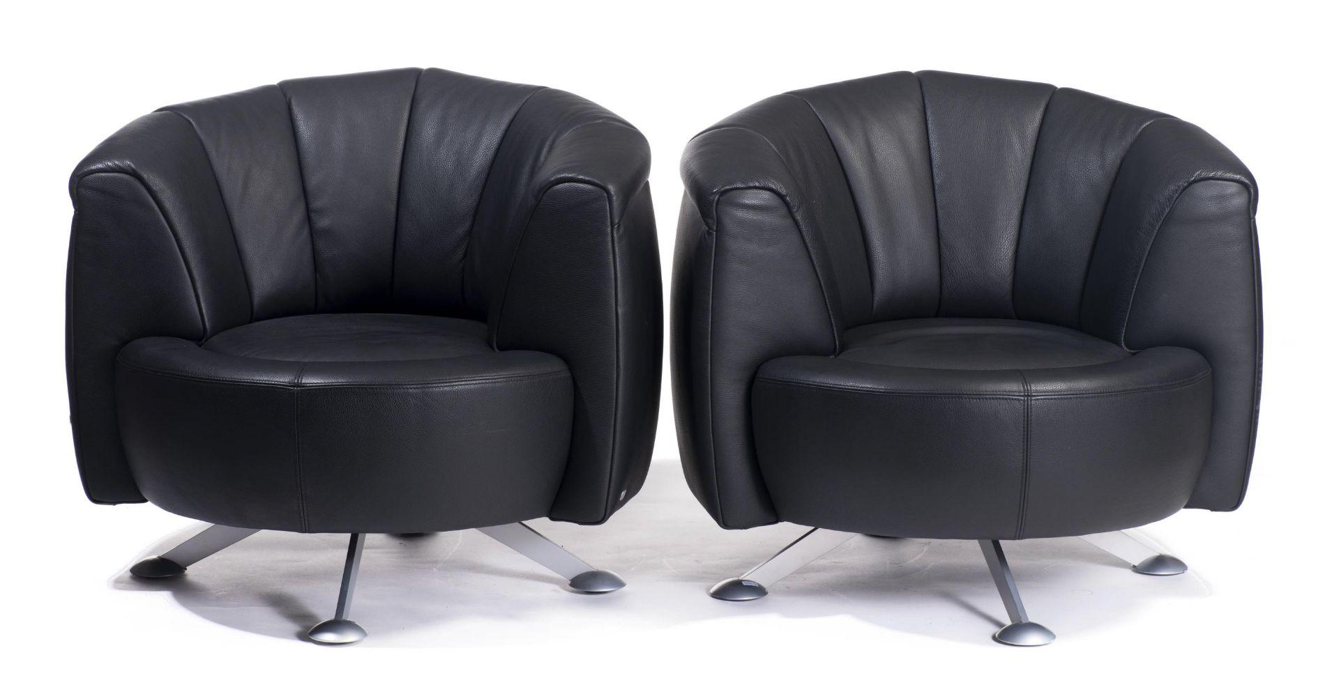 Hugo de Ruiter, deux fauteuils De Sède, modèle DS-164