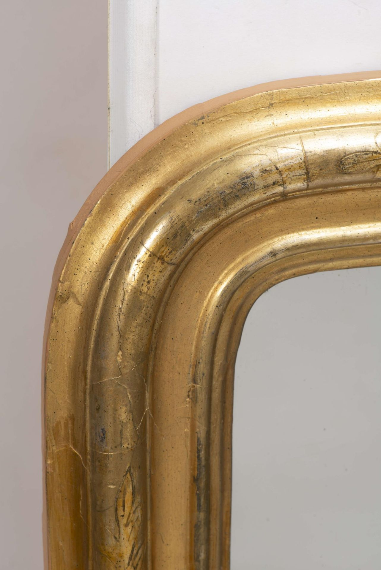 Miroir vertical à cadre en stuc doré d'époque Louis-Philippe - Bild 2 aus 4