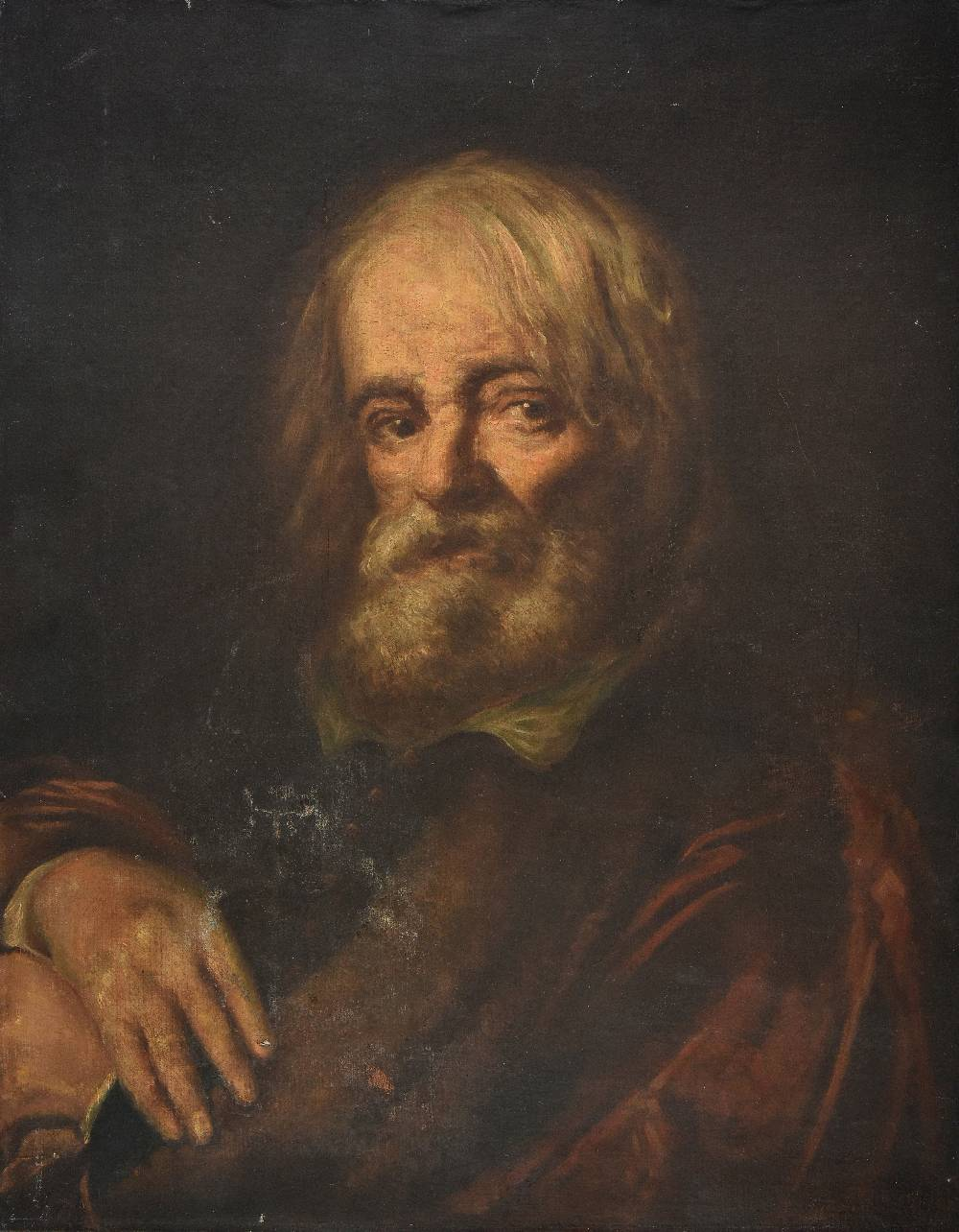Lot 9 - *Bolognese School. Portrait of a bearded old man, late 17th or early 18th century, oil on canvas,