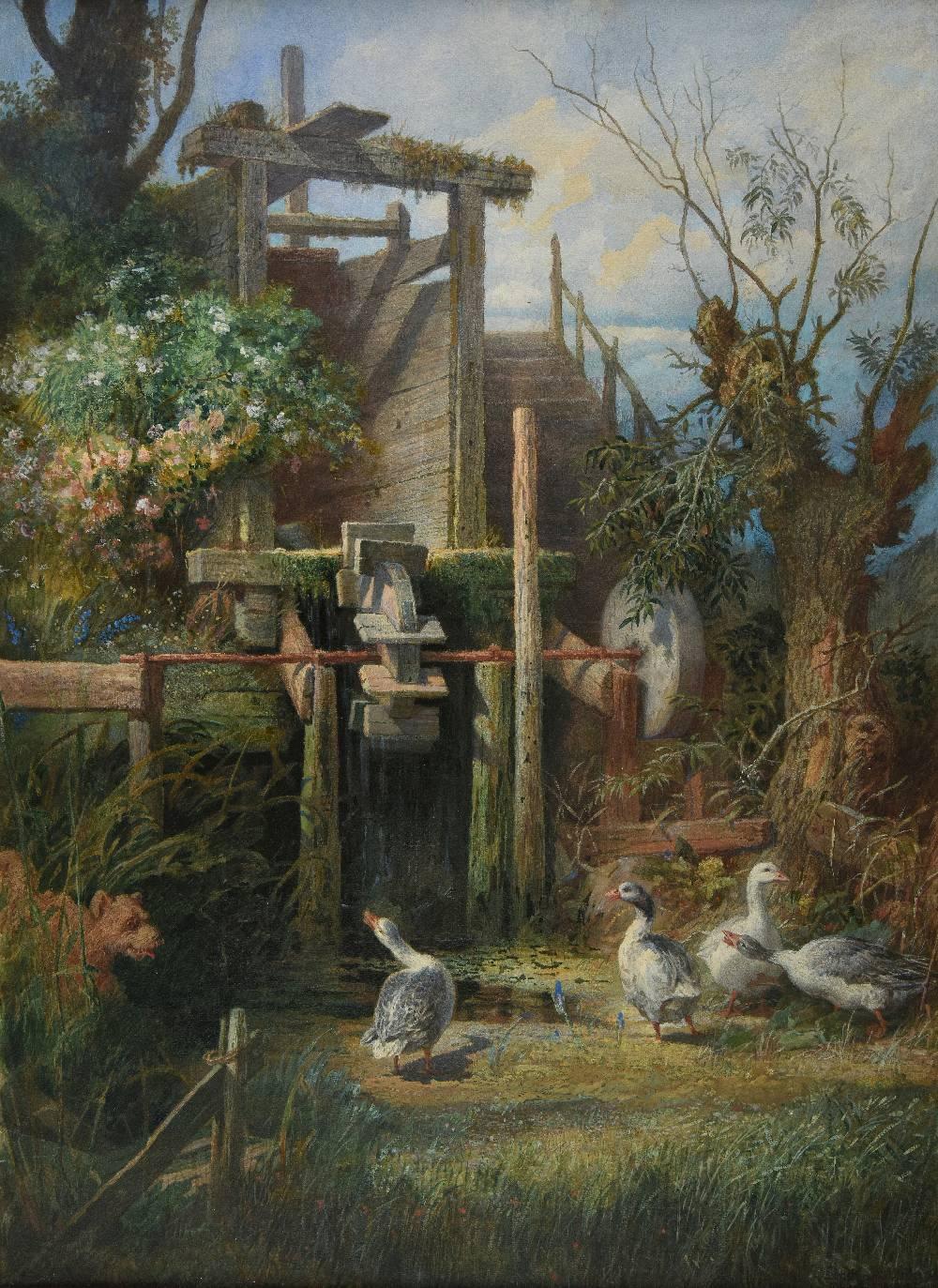 Lot 28 - *Boklund (Johan Christoffer, 1817-1880). Slipsten um Ulriksdal, Rasserad, 1876, fine large-scale