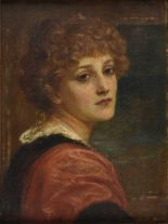 Lot 31 - *Canziani (Louise Starr, 1845-1909). Portrait of a Young Lady, oil on canvas, artist's monogram