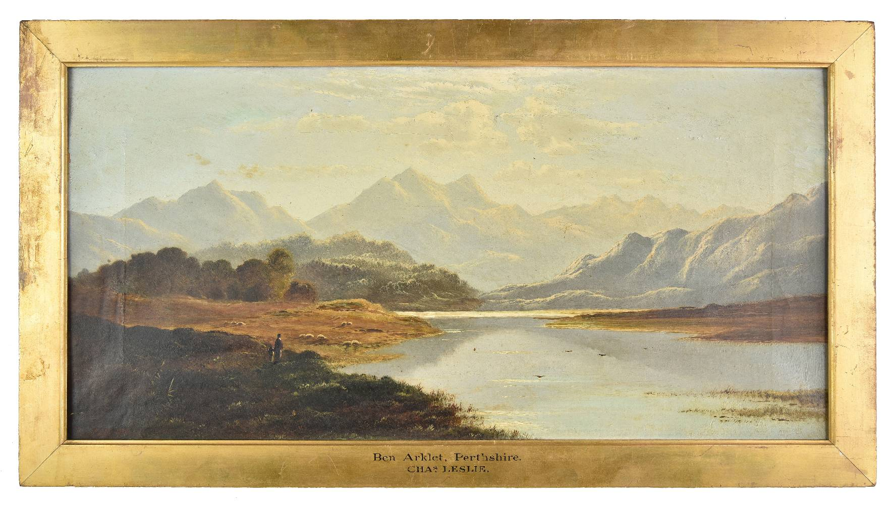 Lot 43 - *Leslie (Charles, 1835-1890). Ben Arklet, Perthshire, 1878, oil on canvas, signed and dated lower