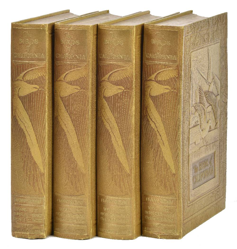 Lot 57 - Dawson (William Leon). The Birds of California ... Trade Souvenir Edition, 4 volumes, San Diego, CA: