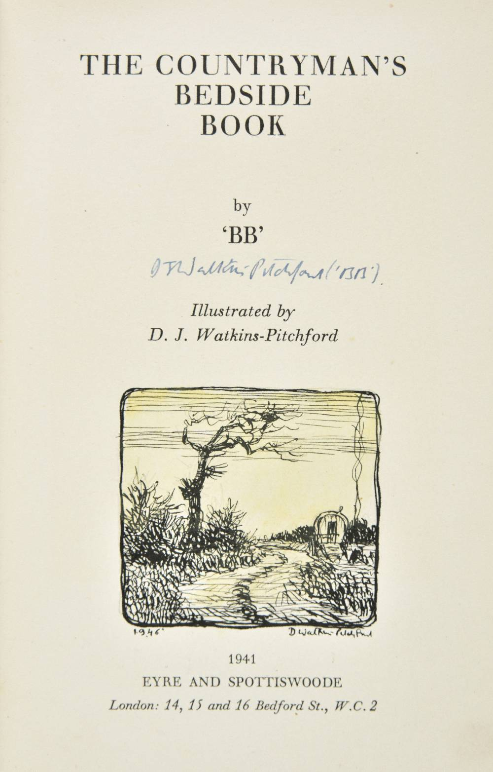 "Lot 43 - Watkins-Pitchford (D.J., ""BB""). The Countryman's Bedside Book, 1st. edition, published Eyre &"