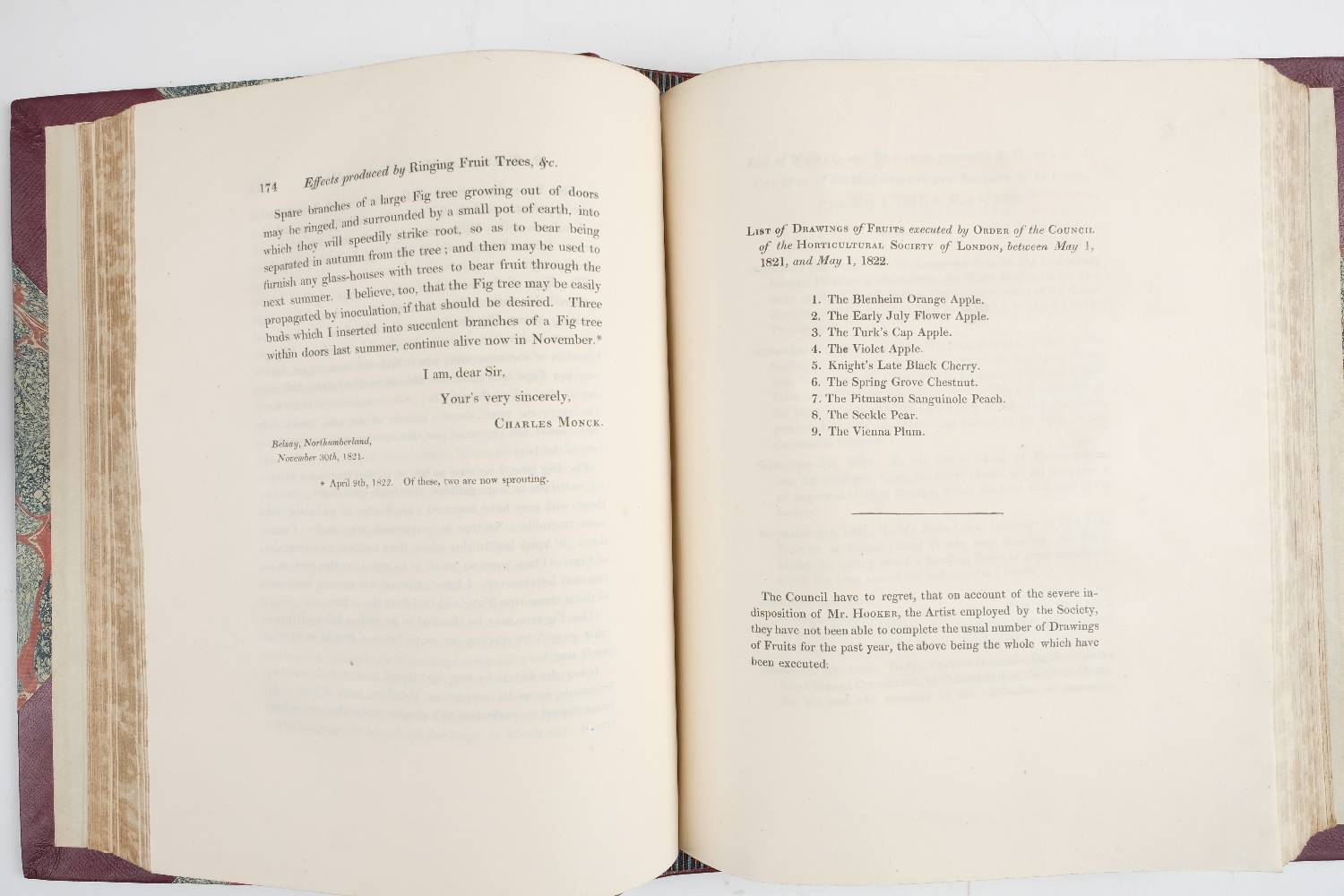 Lot 42 - Transactions of the Horticultural Society of London. volumes 1-7 First series, volumes 1-2 (of 3)