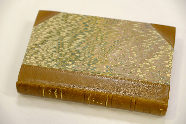 Lot 21 - Leland (John). De Rebus Britannicis Collectanea, 6 volumes, Oxford, 1715, folding engraved plates,