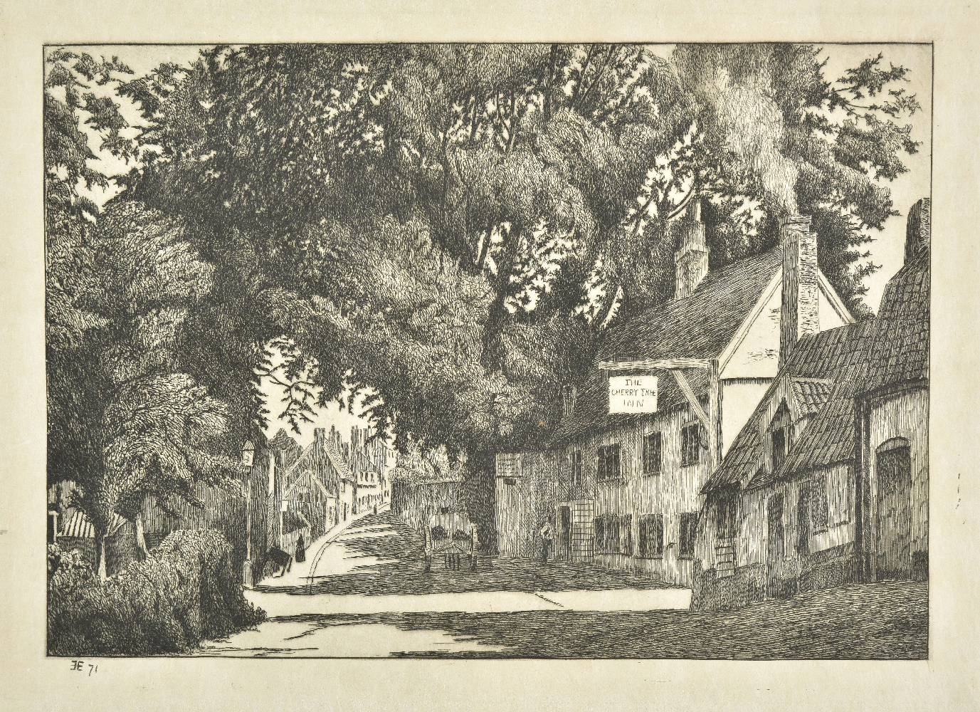 Lot 16 - Edwards (Edwin). Old Inns, 3 volumes in one, 1873, 1880 & 1881, 135 etched plates (including