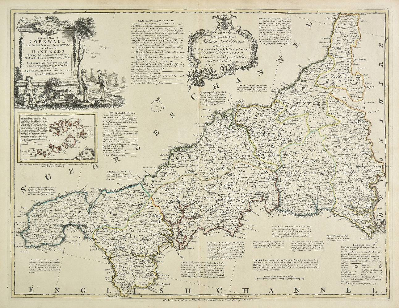 Lot 13 - Bowen (Emanuel & Kitchin, Thomas). The Large English Atlas: or, a New Set of Maps of all the