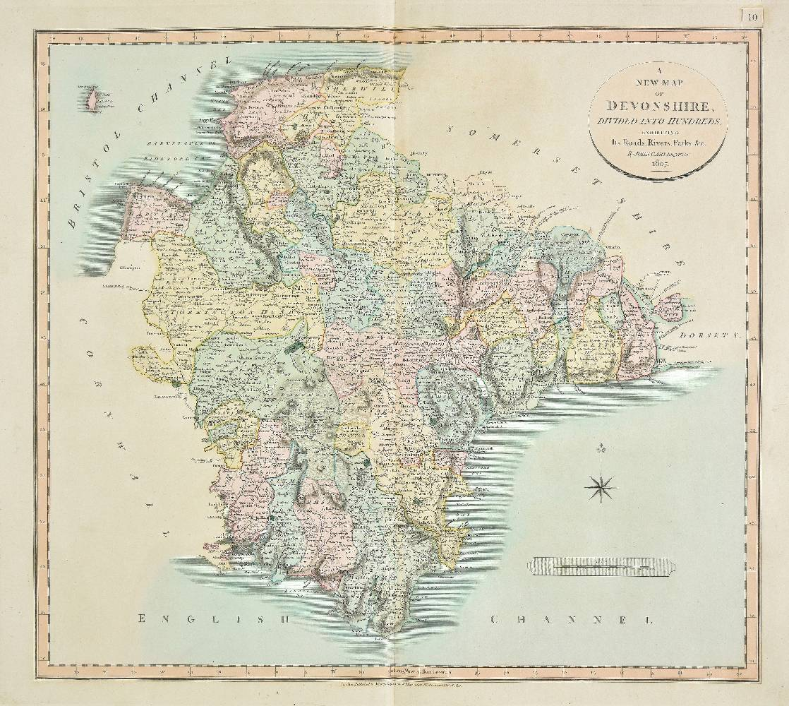 Lot 15 - Cary (John). Cary's New English Atlas; Being a complete set of county maps, from actual surveys,