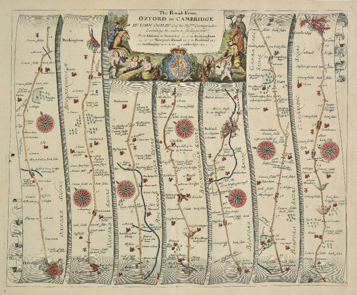Lot 22 - Ogilby (John). Britannia: or, The Kingdom of England and Domininion of Wales Actually Survey'd
