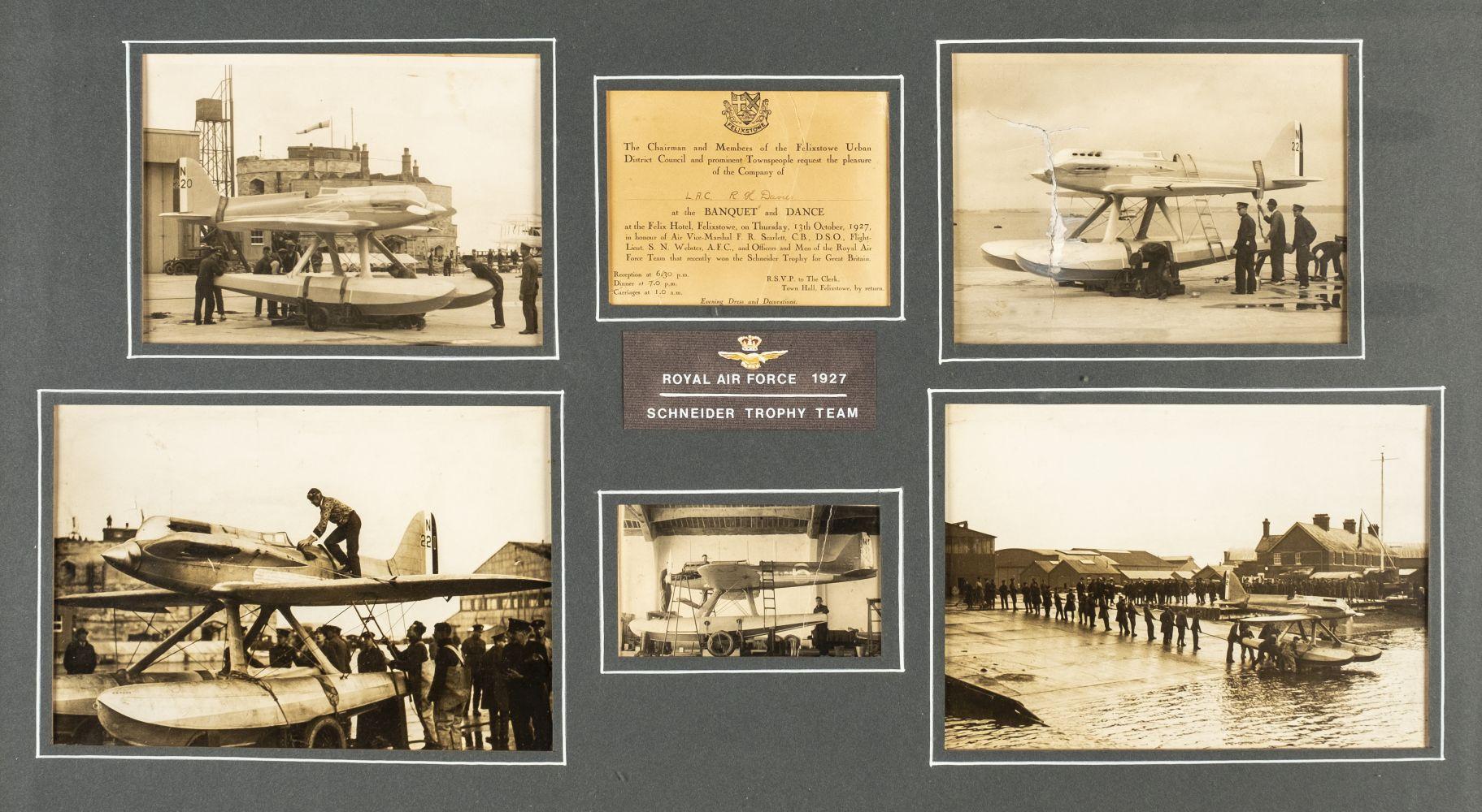 Lot 136 - * RAF High Speed Flight Schneider Trophy Race. 1927, a montage of original photographs