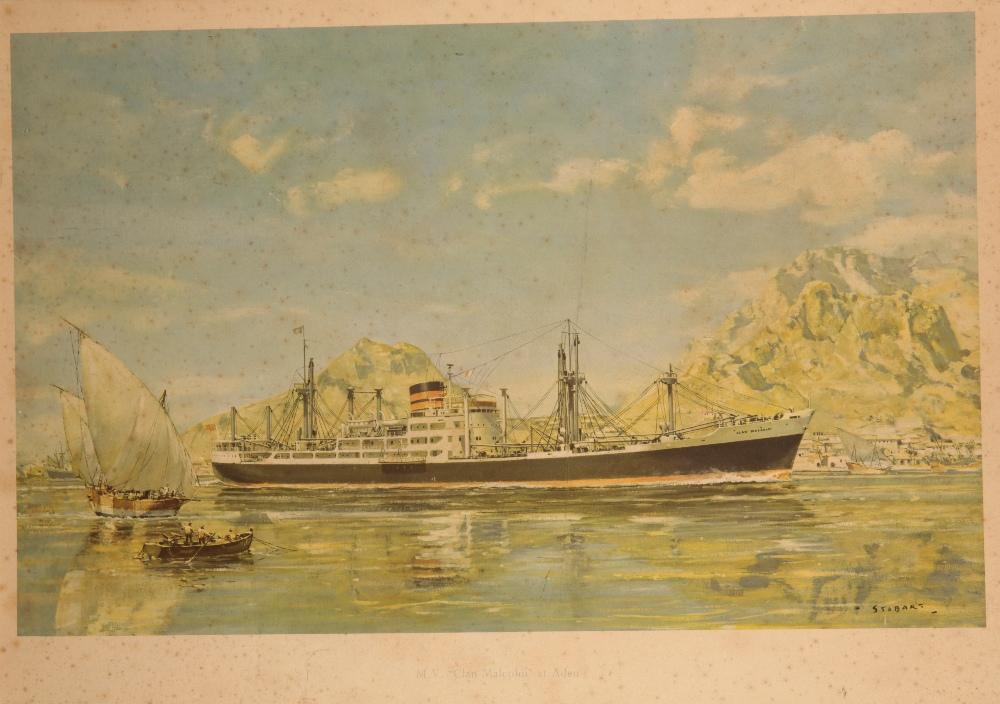 Lot 900 - FRANK H MASON (1875-1965) 'M.T. ATONALITY IN FEJERFJORD, NORWAY'