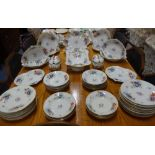 Lot 136 - AN EXTENSIVE 19TH CENTURY DERBY DESSERT SERVICE, decorated with hand-painted floral sprays