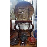 Lot 182 - A CHINESE HARDWOOD STAND and similar items