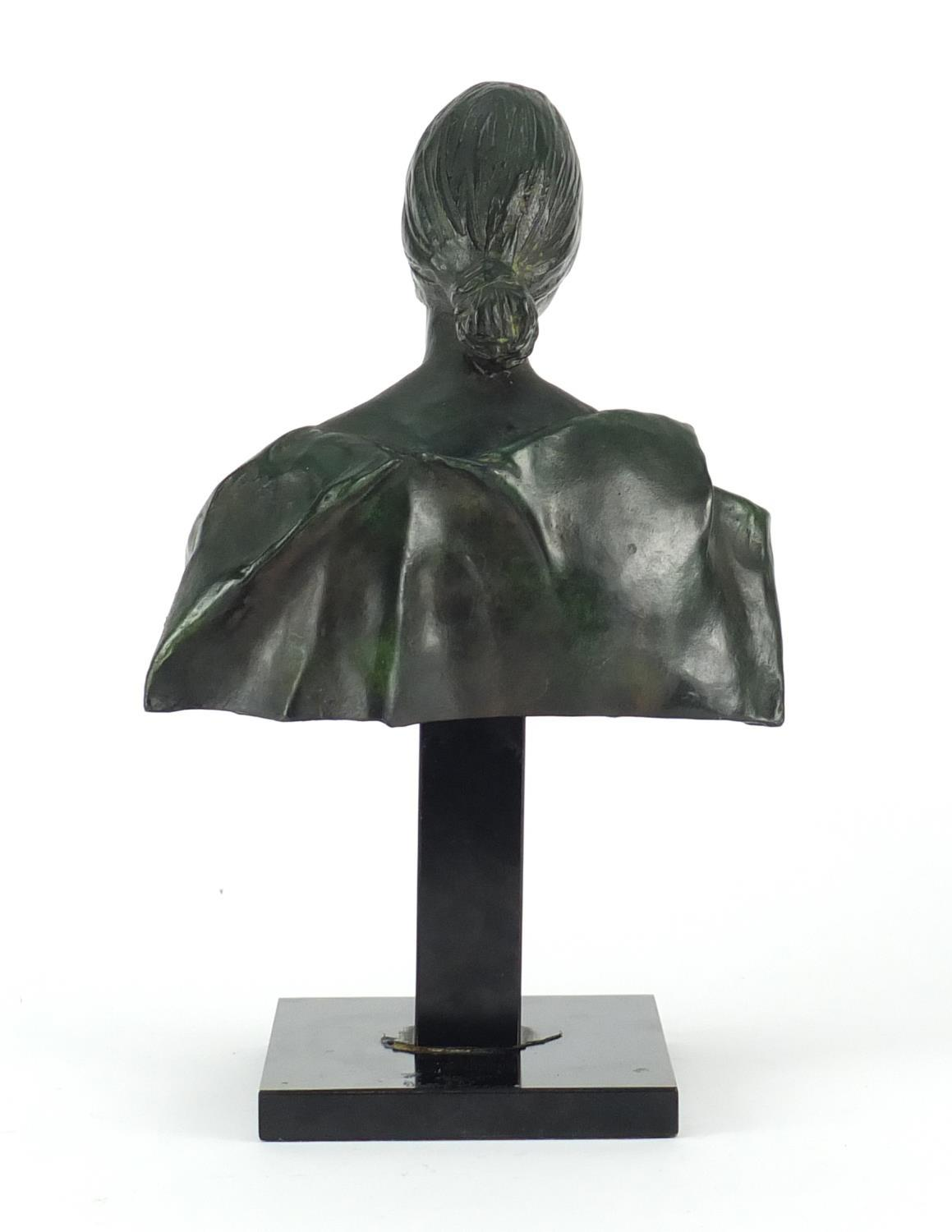 Lot 4 - Francesco Messina, patinated bronze bust titled 'Laura', limited edition 38/149 with certificate