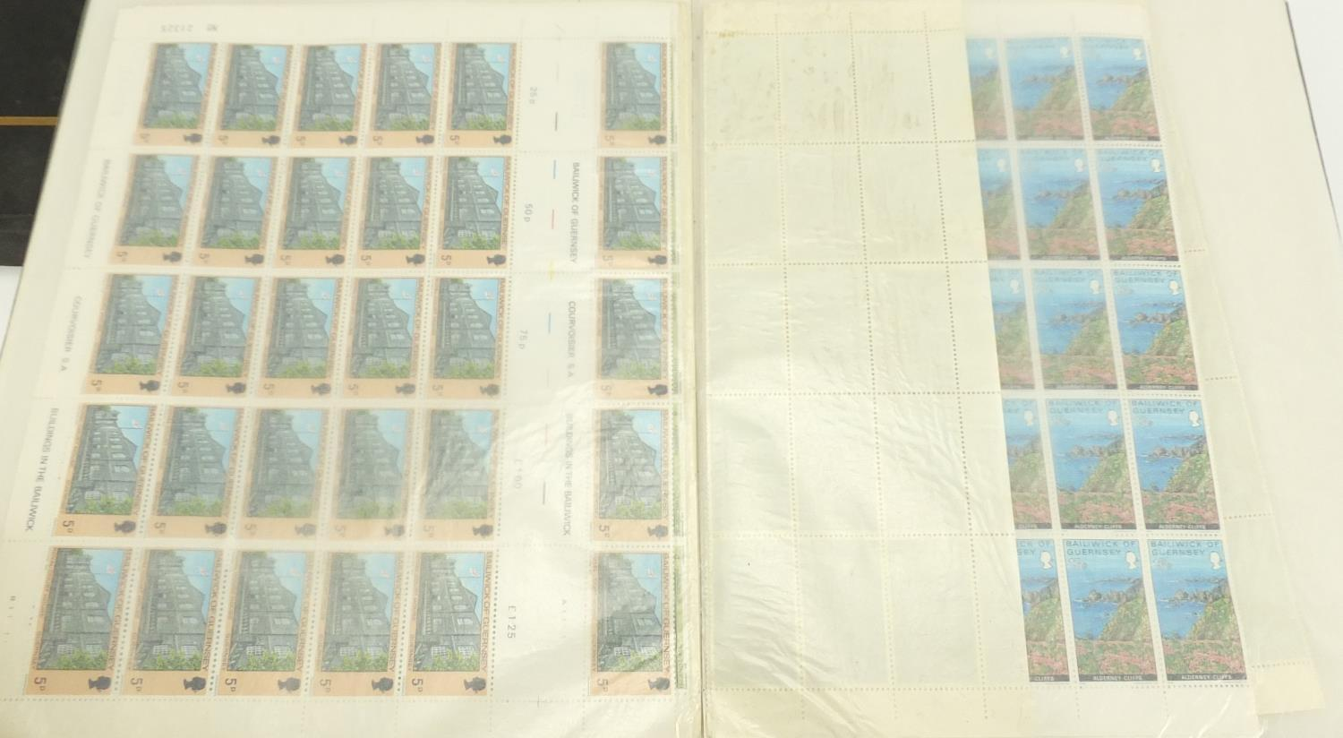 Lot 1067 - Mostly British stamps some mint unused and sheets, arranged in three albums : For Further