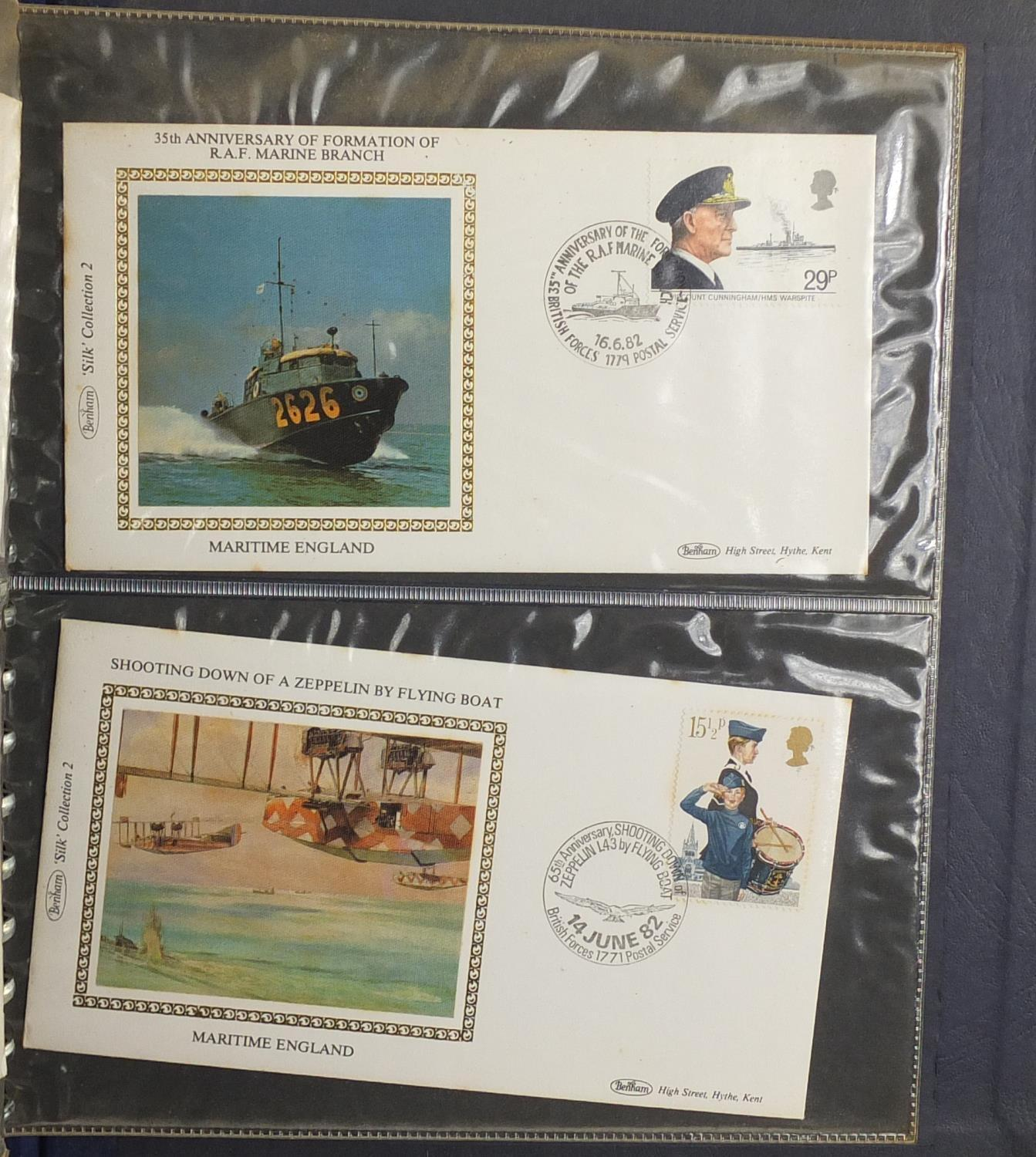 Lot 1040 - Maritime England first day covers by Benham, arranged in an album, limited edition 116/1020 : For
