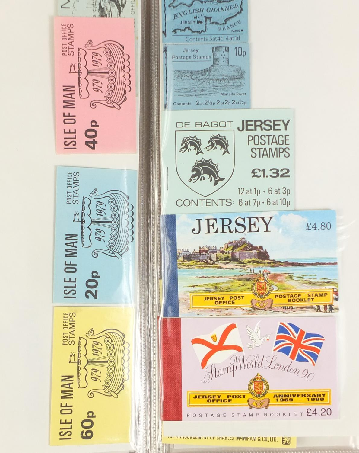 Lot 1049 - Stamp booklets including Royal Mail, GPO, Jersey and Guernsey arranged in an album : For Further