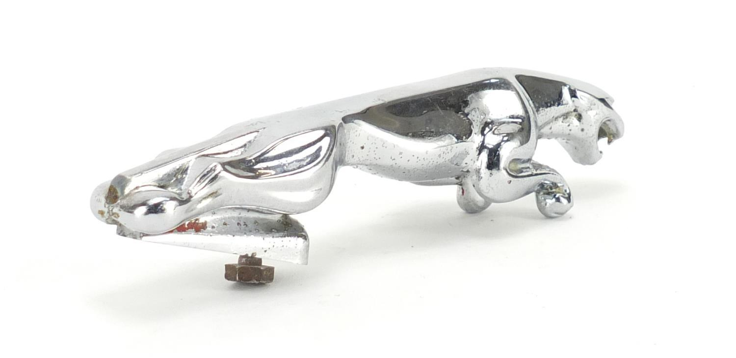 Lot 988 - Chrome Jaguar car mascot, 18cm in length : For Further Condition Reports Please visit our