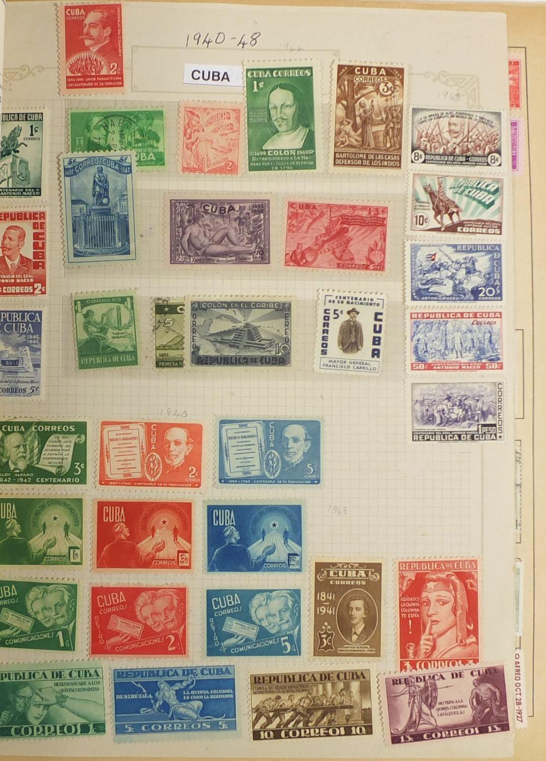 Lot 1048 - World stamps including early South American countries, America and some unmounted mint sets : For