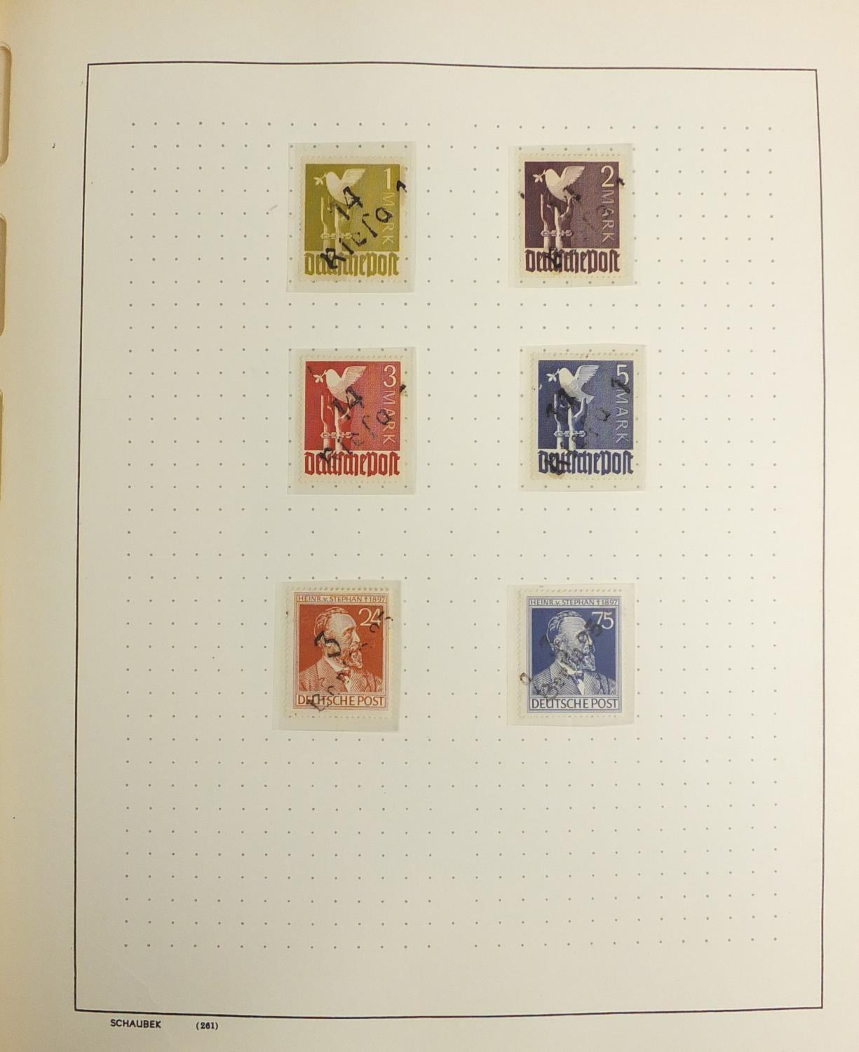 Lot 1046 - Mid 20th century German stamps arranged in an album : For Further Condition Reports Please visit our
