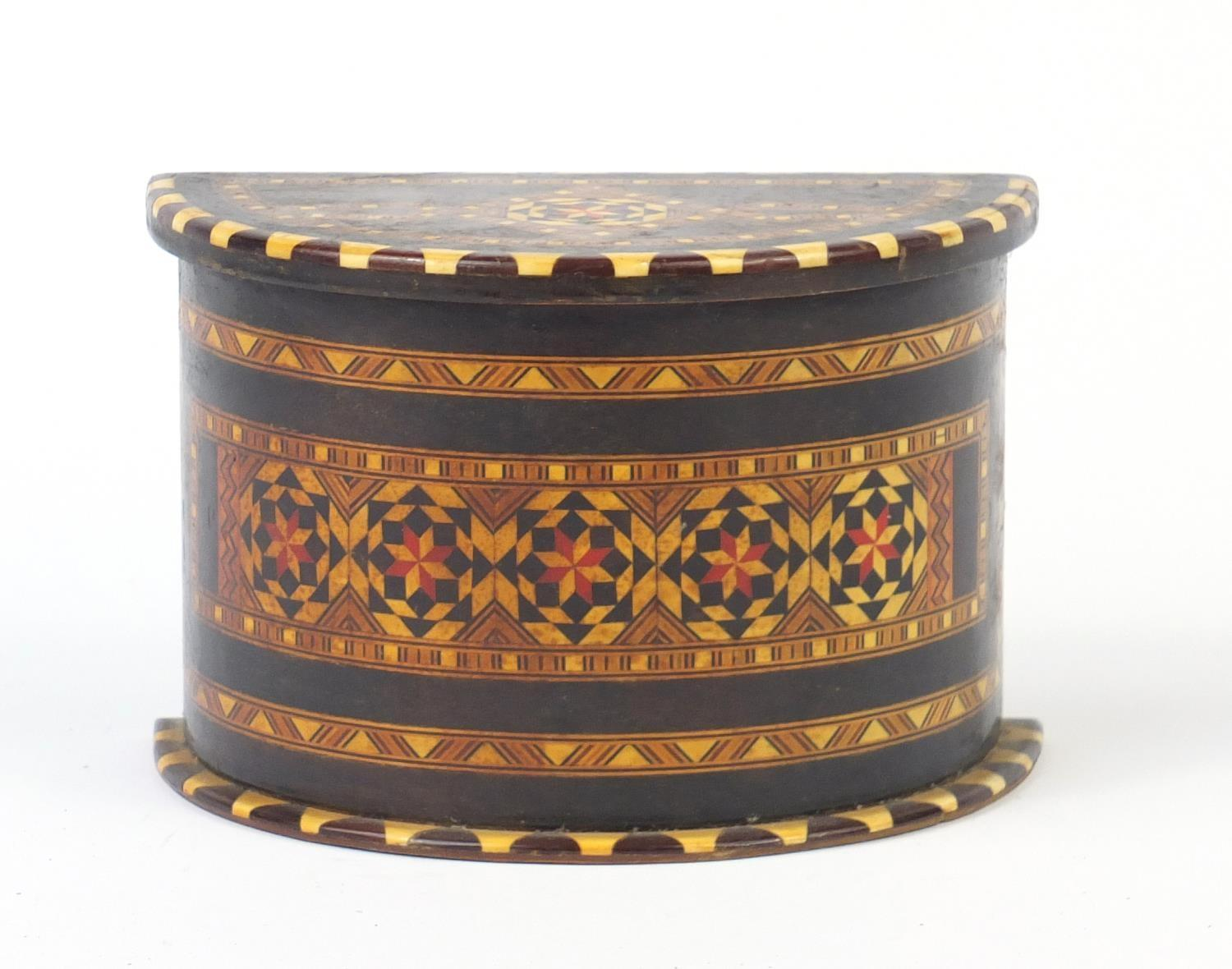 Lot 201 - Vizagapatam style playing card box, 12cm H x 18cm W x 10cm D : For Further Condition Reports