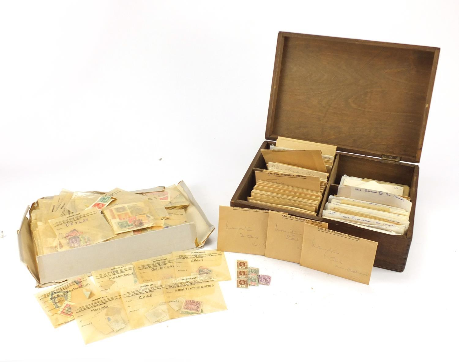 Lot 1082 - Large collection of loose British and World stamps : For Further Condition Reports Please visit
