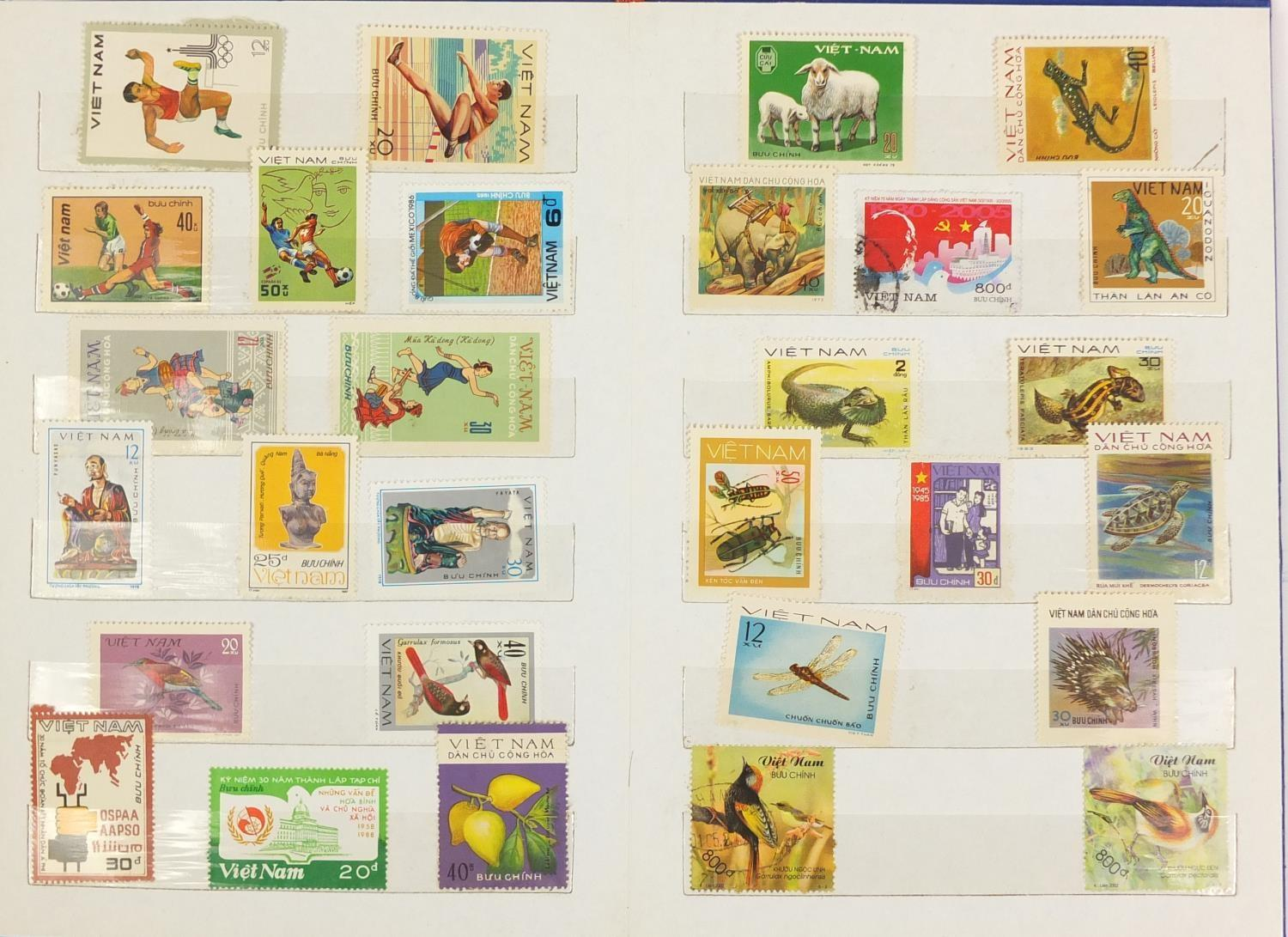 Lot 1047 - Vietnamese stamps some unmounted mint and used, arranged in two stock books : For Further