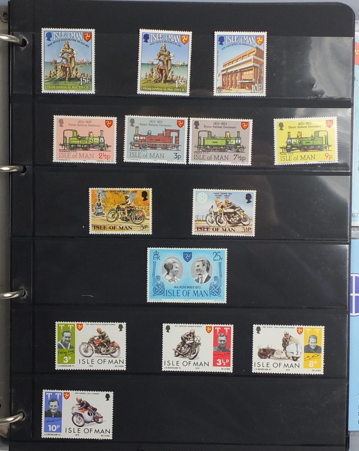 Lot 1042 - Isle of Man stamps mostly unmounted mint including mini sheets, strips and blocks, arranged in an