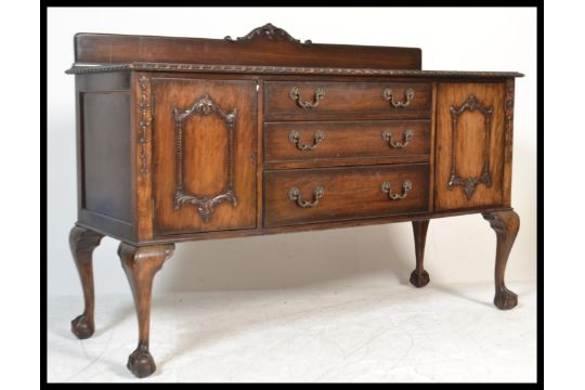 A 1930 S Chippendale Style Mahogany Sideboard Credenza Having A
