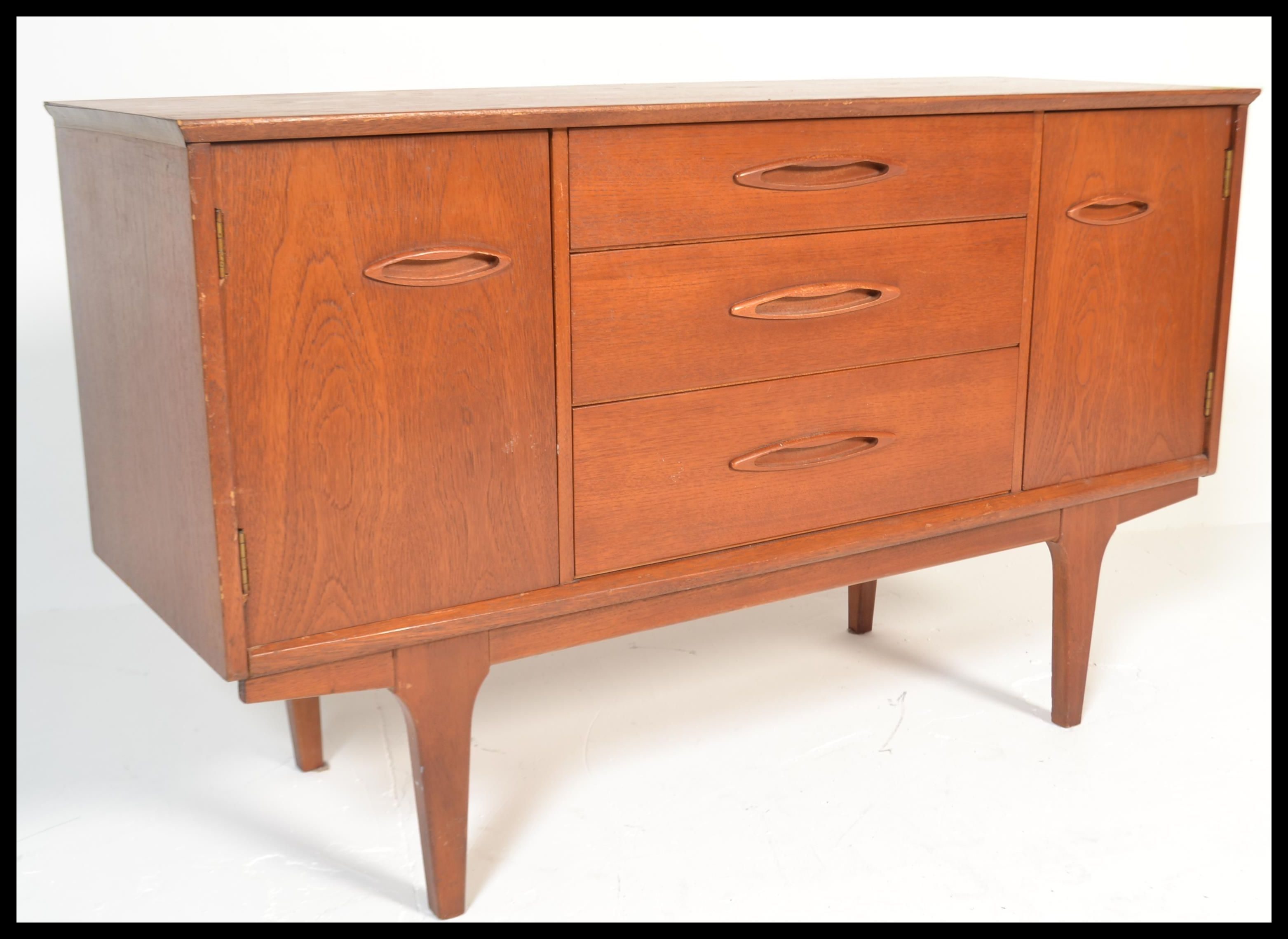 Small Danish Credenza : Dining room low mid century credenza vintage danish sideboard