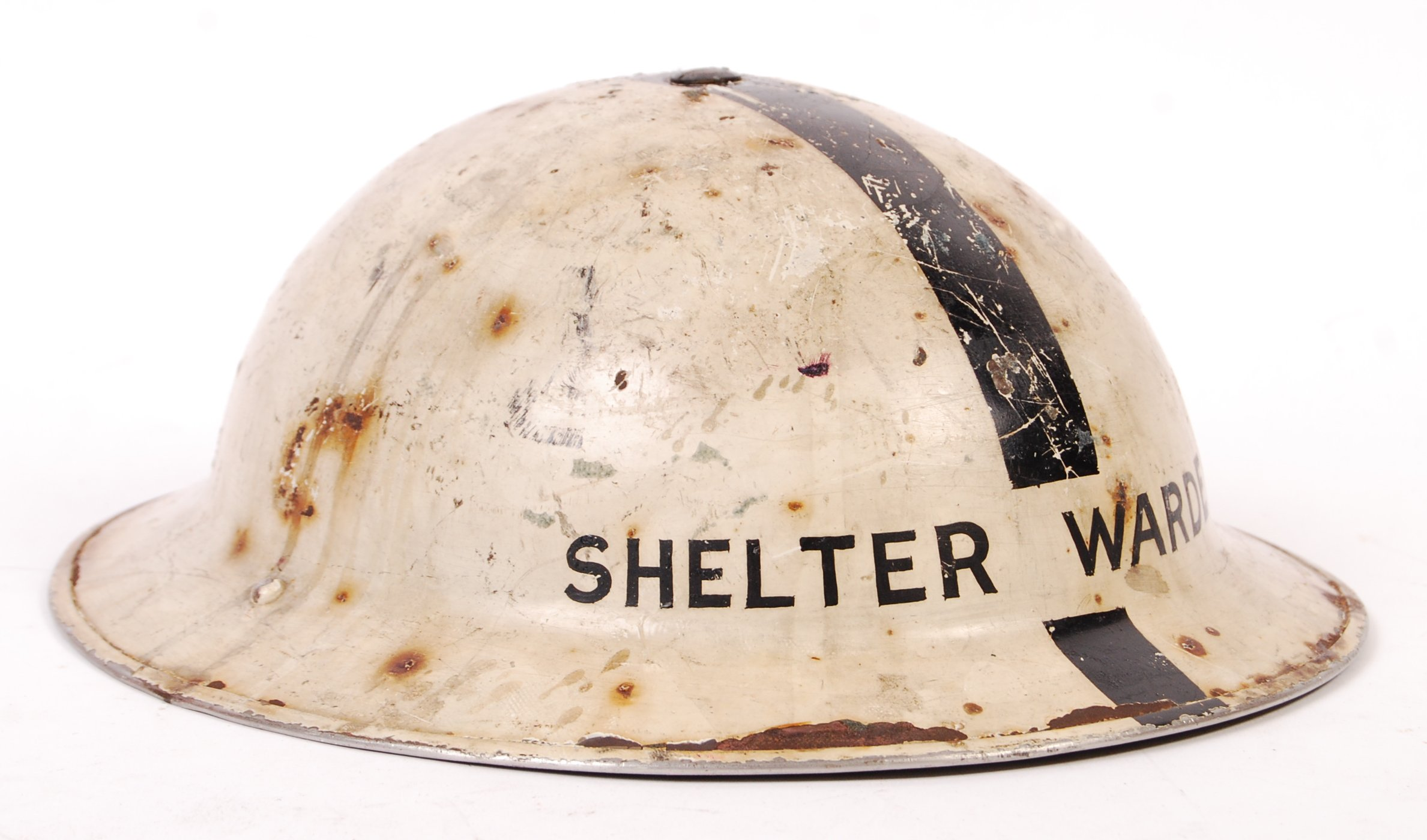 Lot 8 - RARE WWII ARP SHELTER WARDEN BRODIE UNIFORM HELMET