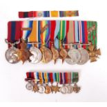 EXCEPTIONAL WWI & WWII WORLD WAR MEDAL GROUP - ARMY SERVICE CORPS