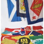 COLLECTION OF ASSORTED SHIPPING LINE FLAGS