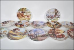 A full set of twelve Danbury Mint Thelwell's Ponies collector's plates with original certificates.