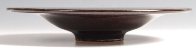 20TH CENTURY STUDIO ART POTTERY FOOTED BOWL / TAZZ