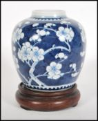 A early 20th CenturyChinese blue and white ginger